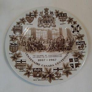 Canada Centennial Decorator Plate 1967